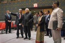 Modi visits key venues of UN at its headquarters