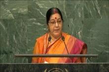 UNGA: Sushma Says Kashmir Integral Part of India; Asks Pakistan To Stop Dreaming