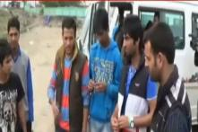 Kashmiri students suspended from UP university protest in Srinagar