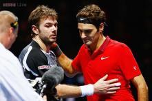 Roger Federer and Stanislas Wawrinka play down London row