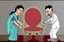 NEELABH TOON: Sasikala, Panneerselvam Lock Horns Over Tamil Nadu CM Post