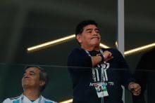 FIFA World Cup 2018: Maradona Flips Double Bird After Argentina's Late Winner Against Nigeria