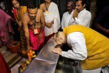 PICS: Amit Shah Visits Mahalaxmi Temple, Seeks Blessings