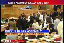 Ruckus in J&K assembly over Omar's remarks