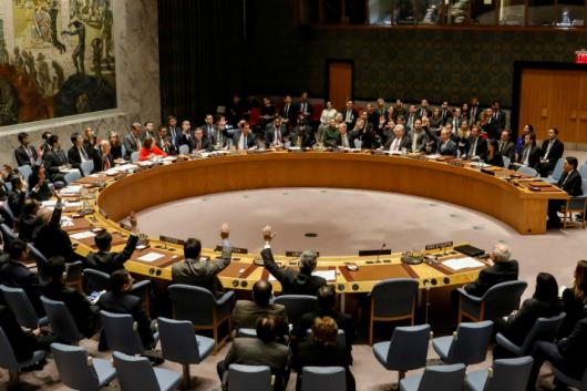 Members of the United Nations Security Council vote on an Egyptian-drafted resolution regarding recent decisions concerning the status of Jerusalem, during a meeting on the situation in the Middle East, including Palestine, at U.N. Headquarters in New York City, New York, U.S., December 18, 2017. (Photo: REUTERS)