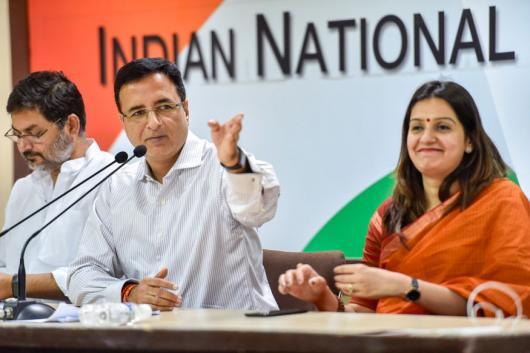 File photo of Congress spokesperson Randeep Singh Surjewala. (PTI)