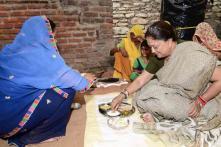 Rajasthan CM Vasundhara Raje Eats Lunch at Dalit's House in Bundi