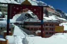 Watch: Badrinath Receives Fresh Snowfall