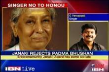 Singer S Janaki refuses to accept Padma Bhushan