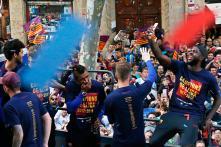 FC Barcelona Celebrates La Liga Triumph in City Parade