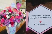 Alia Bhatt Sends Kangana Ranaut Flowers for Her Padma Shri Honour