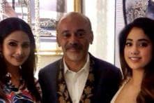 Sridevi and daughter Jhanvi meet footwear designer Christian Louboutin