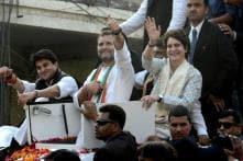 At Priyanka Gandhi's Mega Lucknow Roadshow, Rahul Does the Talking; Says Door Open on Gathbandhan