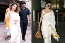 Kangana Ranaut Looks Divine in a White Saree; See Pics