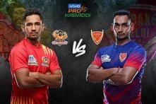 Pro Kabaddi 2019 HIGHLIGHTS, Gujarat Fortunegiants vs Dabang Delhi KC in Mumbai: Gujarat Beat Delhi 31-26