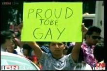Protest at Jantar Mandar against SC verdict ruling gay sex illegal