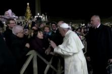 Watch: Pope Francis Pushes Away Woman Who Grabbed His Hand and Pulled Him Towards Her