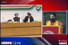 Ramdev hits out at Congress, calls Nehru 'maut ka maha saudagar'