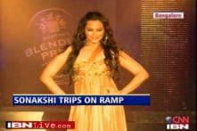 Sonakshi's trip down the ramp