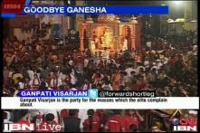 Devotees bid farewell to lord Ganesha with colour and fervour
