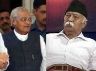 BJP crisis deepens, RSS chief meets Vajpayee
