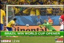 Neymar leads Brazil to 3-1 win over Croatia in World Cup 2014 opener