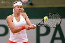 Stefanie Voegele beats Zahlavova Strycova in Linz opener