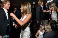 Stop Romanticising Brad Pitt Watching Jennifer Aniston's SAG Award Speech, Please?