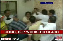 Watch: Congress, BJP workers clash inside Yamunanagar mayor's office