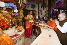 Amit Shah Visits Siddhivinayak Mandir on Ganesh Chaturthi
