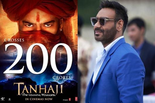 Ajay Devgn's Tanhaji Enters Rs 200 Cr Club, Kajol Eyes Rs 250 Cr Mark