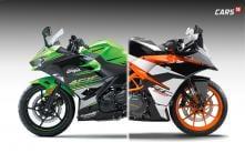 Kawasaki Ninja 400 vs KTM RC 390 Spec Comparison: Features, Price & More