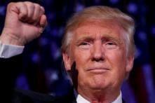 Presenting US President Donald Trump
