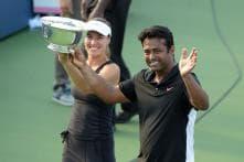 In pics: Leander Paes, Martina Hingis lift US Open 2015