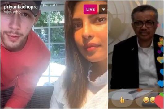 Priyanka Chopra, Nick Jonas (L)