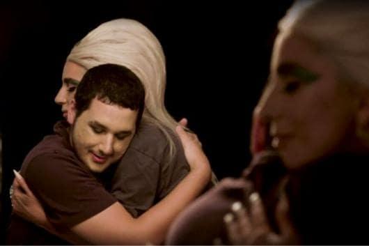 Lady Gaga and 19-year-old Brandon. (Video grab/ Allure Magazine)