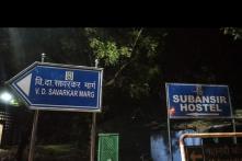 ABVP Claims JNU Students' Union Defaced VD Savarkar Marg Signboard inside Campus