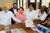 SAD Chief Sukhbir Badal, Wife Harsimrat Kaur Declare Assets Worth Rs 115.95 Crore