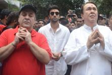 Ranbir Kapoor & Family Join Ganesh Visarjan at RK Studio