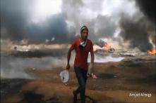 Watch: Tennis Rackets Vs Tear Gas in Gaza