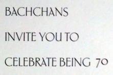 Amitabh Bachchan's 70th birthday party invite