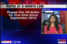 Rupee weakens further, falls to 8-month low