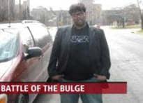 Watch: CJ Hardik fights the bulge