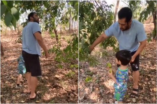 Salman Khan with nephew