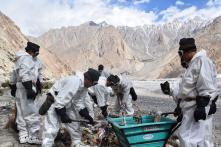 Soldiers Take up Broom on World's Highest Battlefield Siachen Glacier