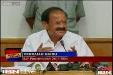 Venkaiah Naidu takes charge as the Urban Development Minister
