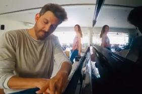 Hrithik Roshan Shows Off His Amazing Piano Skills; Ex-wife Sussanne Khan Videobombs Him