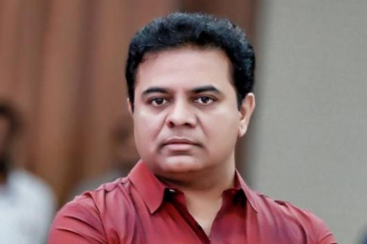 File photo of TRS leader and Telangana IT minister KT Rama Rao.