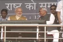 The way good friends do: PM Modi, Nitish Kumar share bonhomie at Bihar event