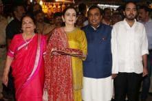 PHOTOS| Mukesh Ambani & Family Visit Siddhivinayak Temple